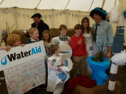 All the guests pledged money to Wateraid