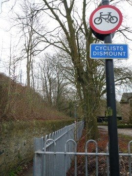Cyclists dismount?