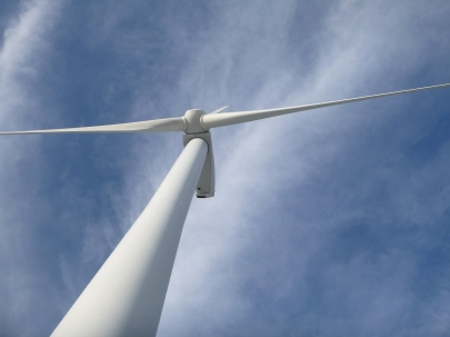 Wind turbine from below