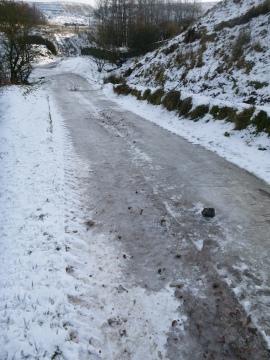 Iced bridleway