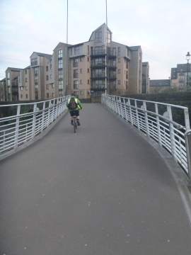 Cyclist on the bridge