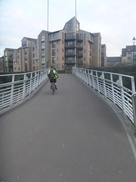 Cyclist on the bridge