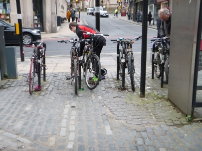 City centre cycle parking