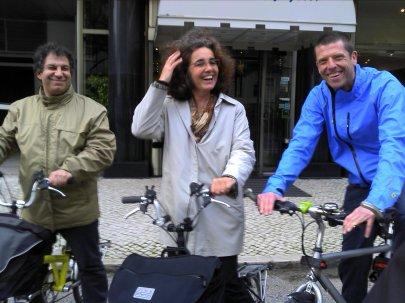 Hercules, Ana and me in Lisbon