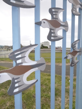 Birds in front of The Midland Hotel