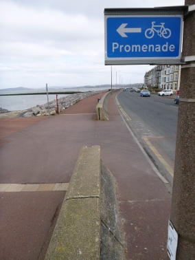 Cycling on the prom