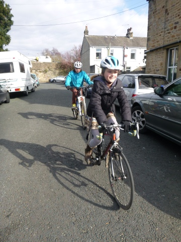Bobby and Flo approaching junction