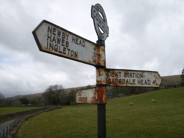 Signpost in Dentdale