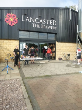 Le Terrier start at Lancaster Brewery
