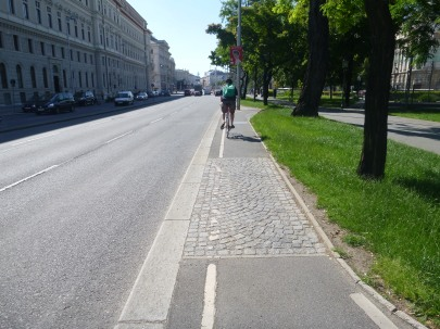 Skinny wiggly Vienna bike lane