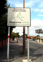 Celebrating Cycling sign