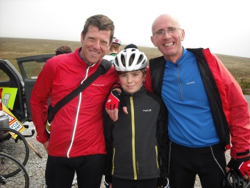 Dave, Bobby and Derek after Jubilee Tower Hill Climb